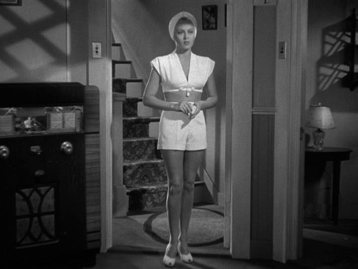 John Garfield's first look at Lana Turner in THE POSTMAN ALWAYS RINGS TWICE