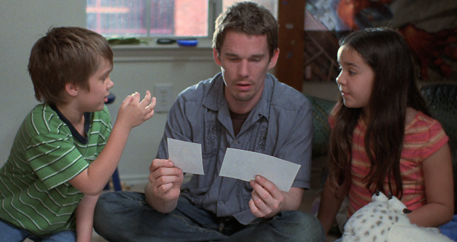 Eller Coltrane, Ethan Hawke and Lorelei Linklater in BOYHOOD