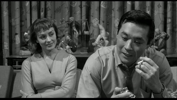 James Shigeta (Right) in THE CRIMSON KIMONO