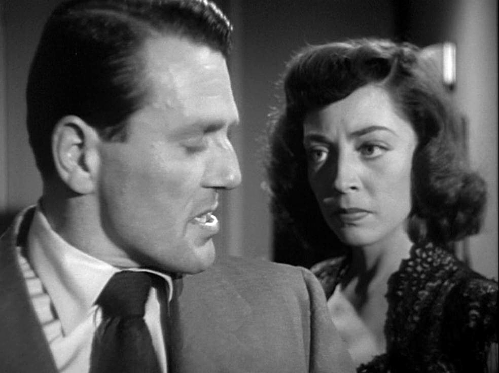 Charles McGraw and Marie Windsor in THE NARROW MARGIN