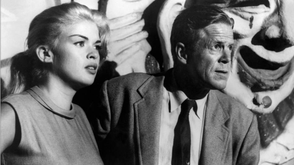 Jayne Mansfield and Dan Duryea in THE BURGLAR
