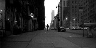 The long silhouette shot in BLAST OF SILENCE