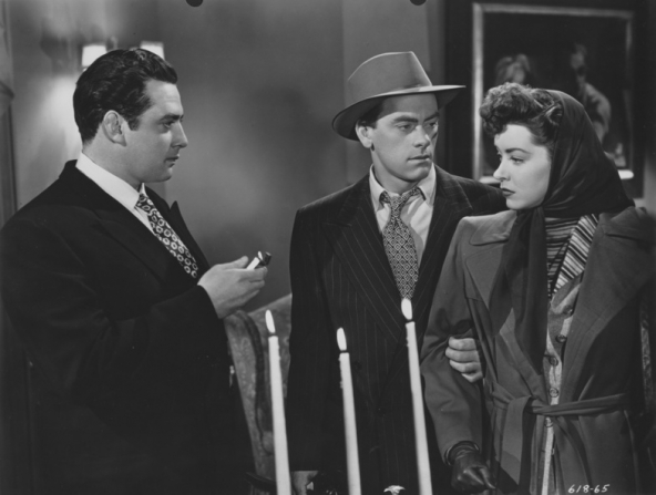 Raymond Burr, John Ireland and Marsha Hunt in RAW DEAL