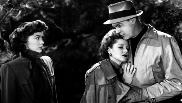Marsha Hunt, Claire Trevor and Dennis O'Keefe in RAW DEAL