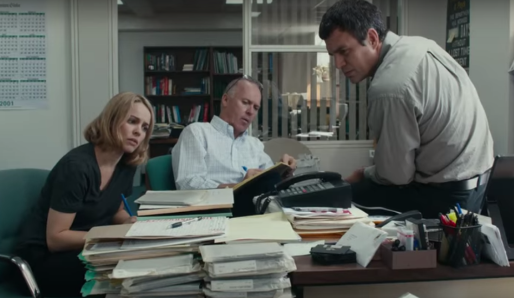 Rachel McAdams, Michael Keaton and Mark Ruffalo in SPOTLIGHT