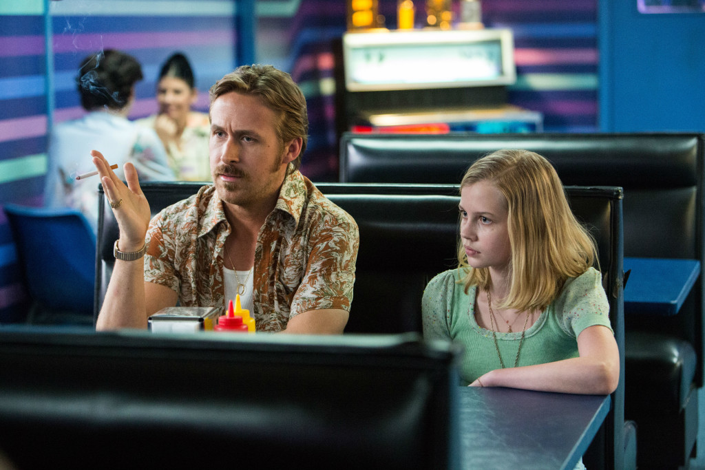 Ryan Gosling and Angourie Rice in THE NICE GUYS