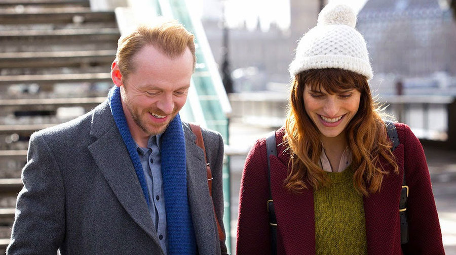 Simon Pegg and Lake Bell in MAN UP