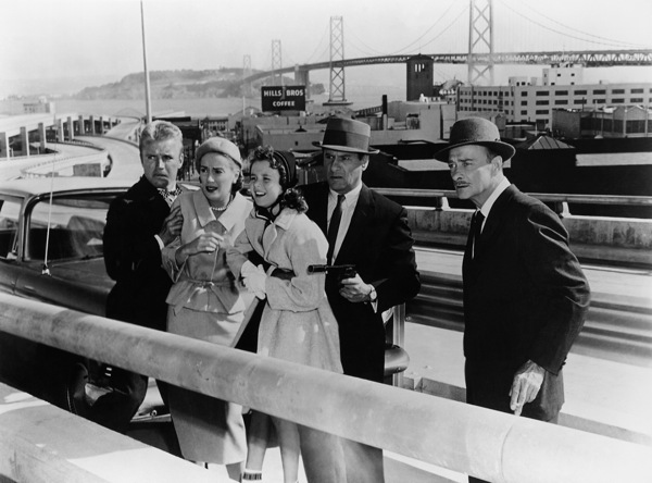 Richard Jaeckel, Mary LaRoche, Cindy Calloway, Eli Wallach and Robert Keith in THE LINEUP