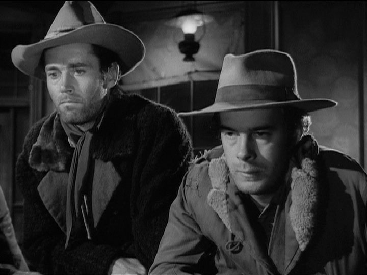Henry Fonda and Harry Morgan in THE OX-BOW INCIDENT