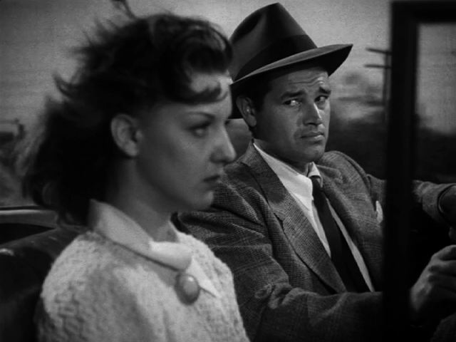 Ann Savage and Tom Neal in DETOUR