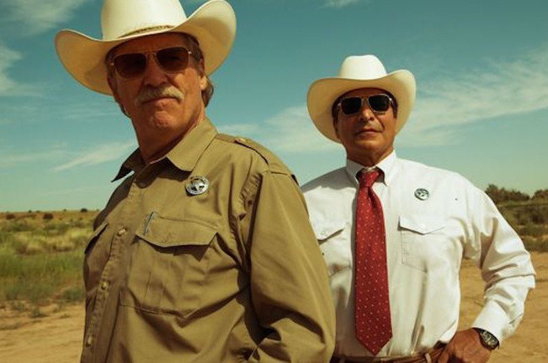 Jeff Bridges and Gil Birmingham in HELL OR HIGH WATER
