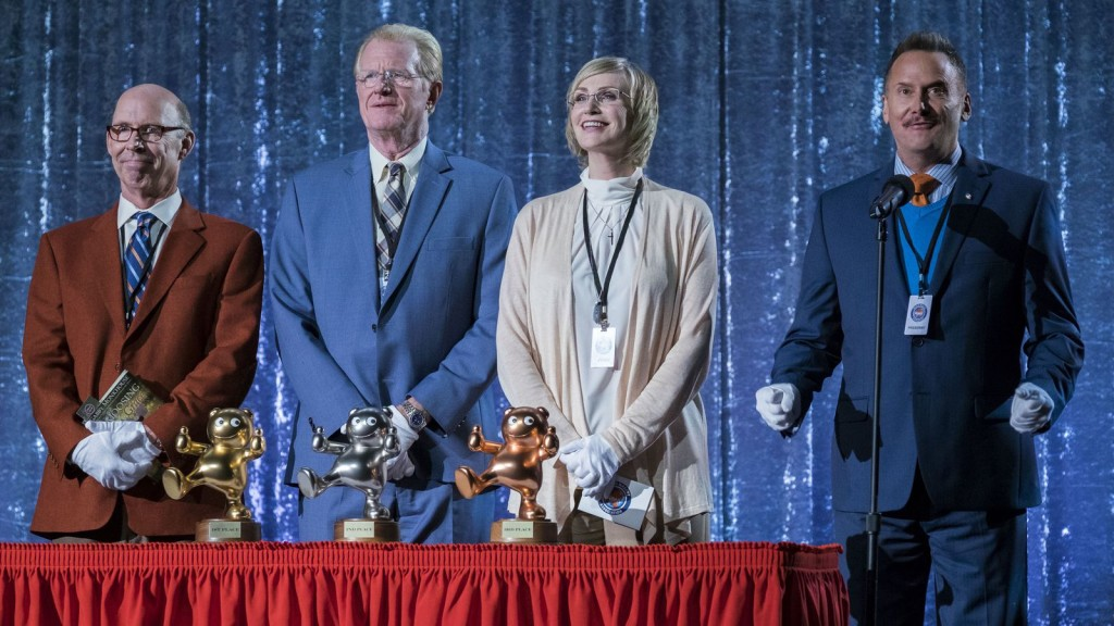 Don Lake, Ed Begley, Jr., Jane Lynch and Michael Hitchcock in MASCOTS