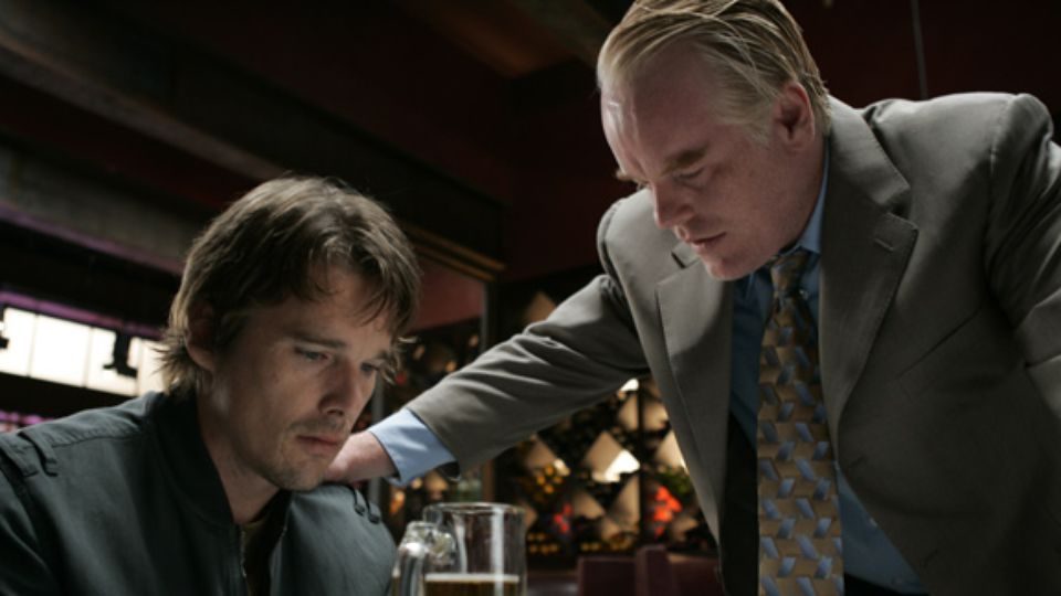 Ethan Hawke and Philip Seymour Hoffman in BEFORE THE DEVIL KNOWS YOU'RE DEAD