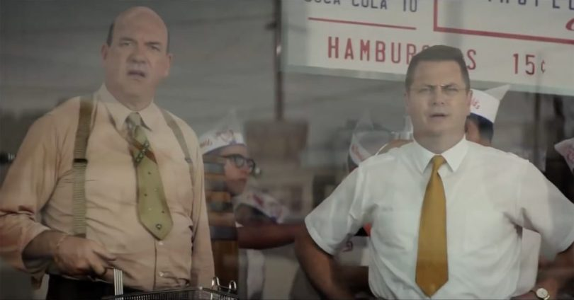 John Carroll Lynch and Nick Offerman in THE FOUNDER