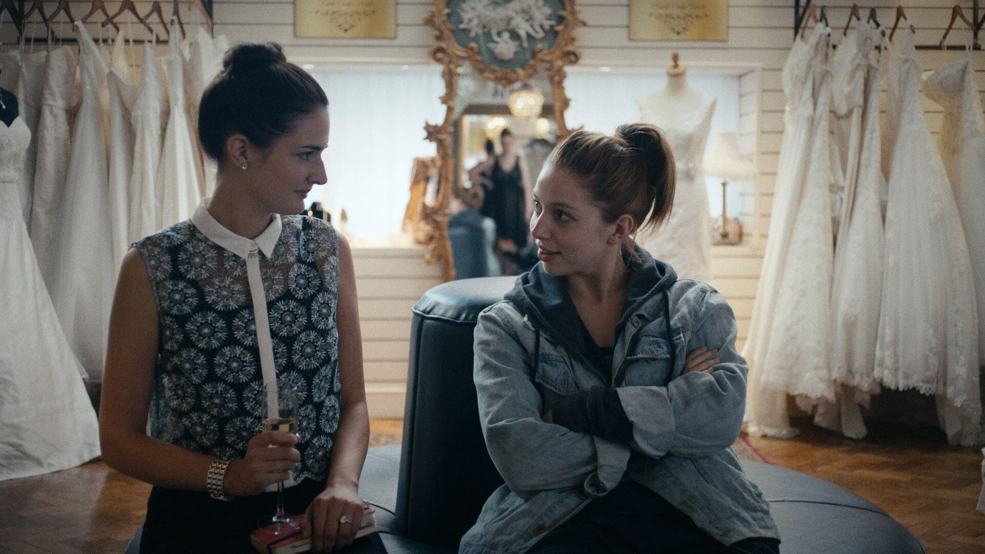 Seána Kerslake (right) in A DATE FOR MAD MARY photo courtesy of SFFILM