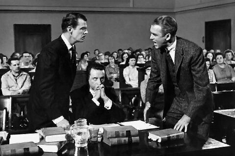 James Stewart and George C. Scott tangle in Anatomy of a Murder