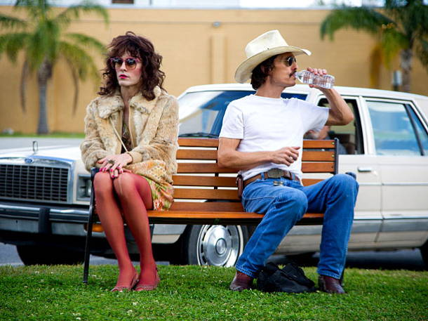 Jared Leto and Matthew McConaughey (both Oscar-nominated) in DALLAS BUYERS CLUB.