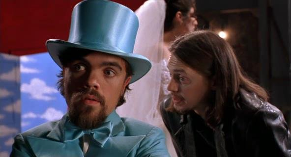 Peter Dinklage and Steve Buscemi in LIVING IN OBLIVION
