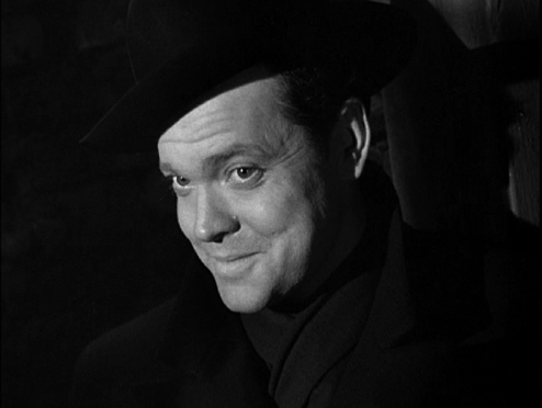 Orson Welles in THE THIRD MAN - the most iconic smirk in cinema