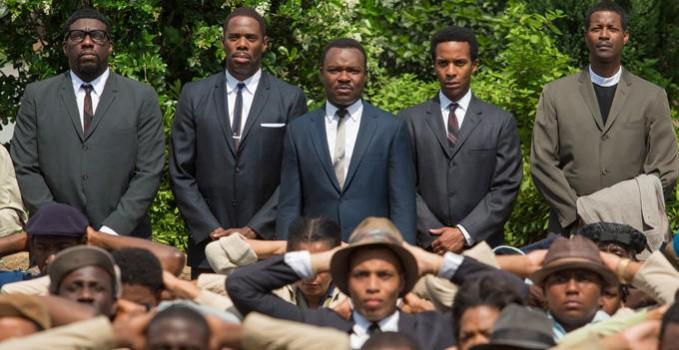 David Oyelowo as Martin Luther King Jr. (center back) in SELMA