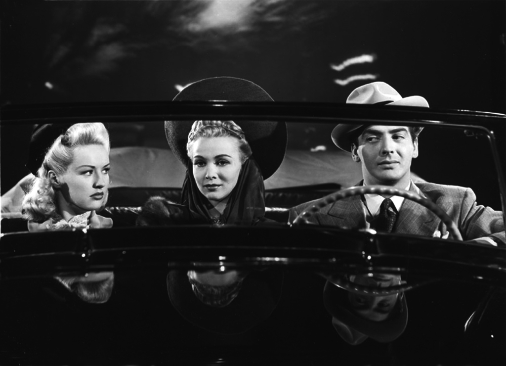 Betty Grable, Carol Landis and Victor Mature in I WAKE UP SCREAMING