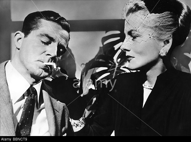 Dana Andrews and Joan Fontaine in BEYOND A REASONABLE DOUBT