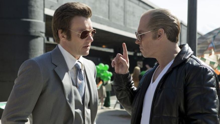 Joel Edgerton and Johnny Depp in BLACK MASS