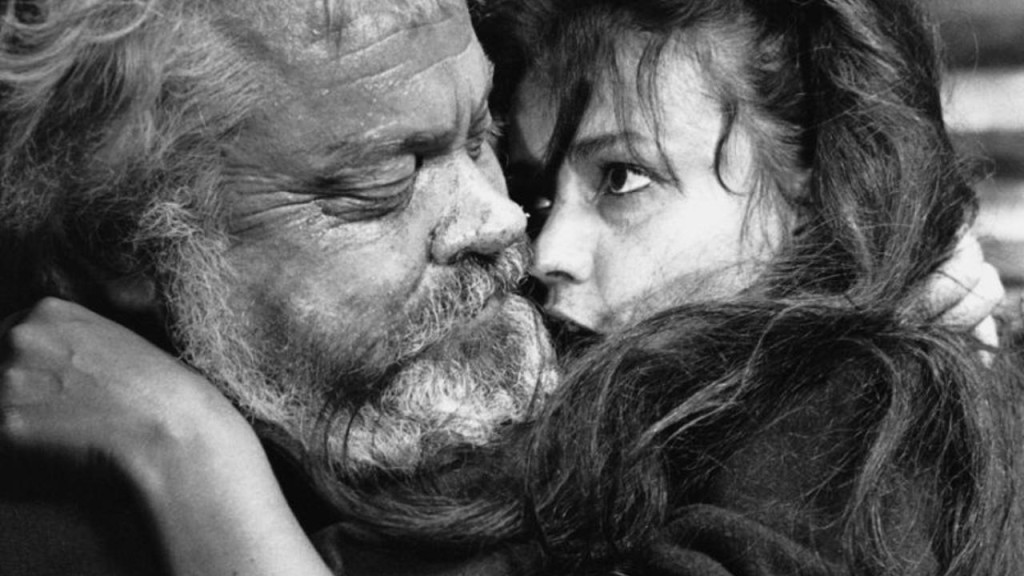 Orson Welles and Jeanne Moreau in CHIMES AT MIDNIGHT