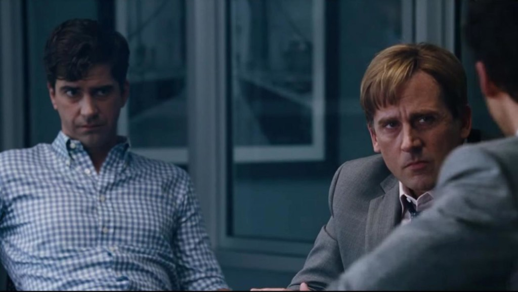 Steve Carell (right) in THE BIG SHORT