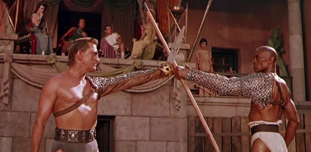 Kirk Douglas and Woody Strode in SPARTACUS