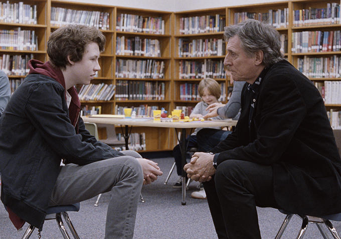Devin Druid and Gabriel Byrne in LOUDER THAN BOMBS