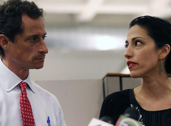 Anthony Weiner and Huma Abedin in WEINER