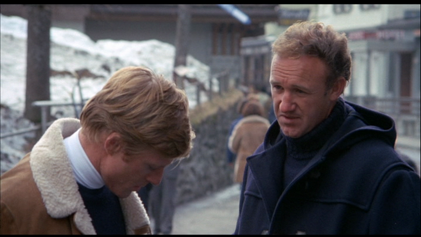 Robert Redford and Gene Hackman in DOWNHILL RACER