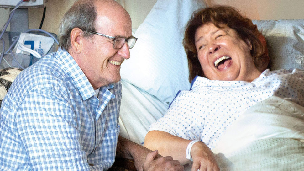 Richard Jenkins and margo Martindale in THE HOLLARS