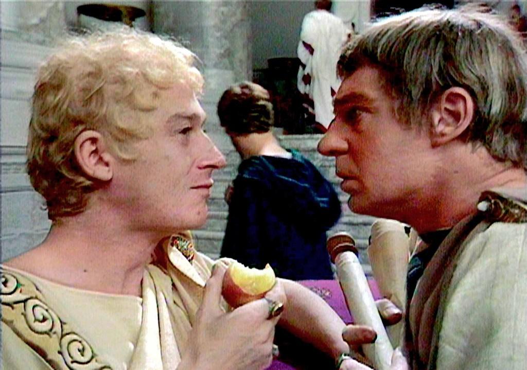John Hurt (left) with Derek Jacobi in I, CLAUDIUS