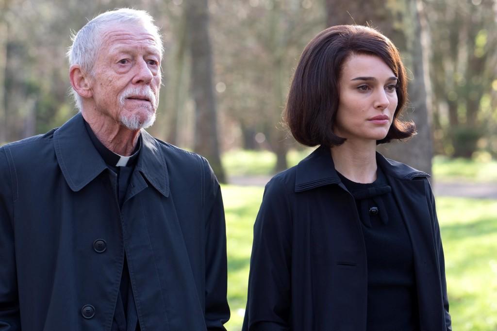 John Hurt with Natalie Portman in JACKIE