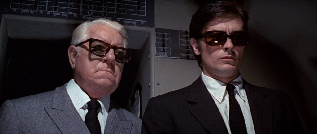 Jean Gabin and Alain Delon in THE SICILIAN CLAN