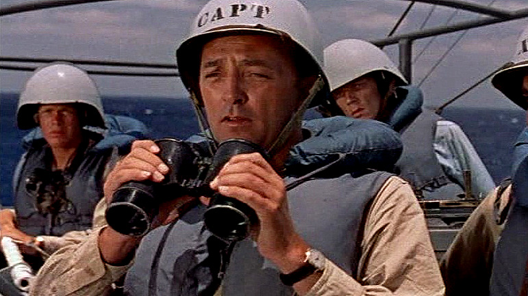 Robert Mitchum in THE ENEMY BELOW